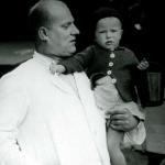Max Grübner mit Tochter Helga Anfang der 50er Jahre >