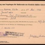 Fragebogen der Friedrich Schiller-Universität ausgefüllt von Anderson>