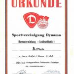 Urkunde der Sportvereinigung Dynamo>