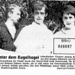 Pressemeldung zum Fluchtversuch von Richard Schlenz und seinen Kameraden>