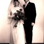 Die Hochzeit von Martina und Gerhard Gergaut im April 1972>
