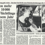 Berliner Morgenpost, 24. August 1989>