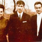 Kurt-Werner Schulz mit Eltern und Schwester Gerlinde>