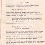 Eidesstattliche Versicherung von Werner Mauersberger aus dem Jahr 1955>