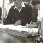 Unterschriftensammlung an Krells Stand>