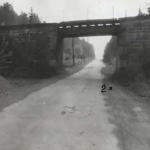 Eisenbahnbrücke in České Hamry, hier wurde Joroslav Soukup von Sudars angeschossen.>